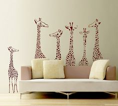 Giraffe Wall Decal Decor Stickers  T3 by ArtHomeDecals on Etsy, $99.00  Any color