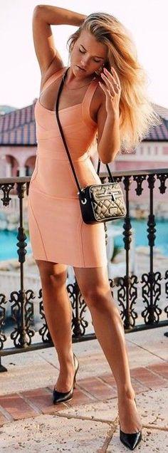 #summer #trending #fashion | Little Peach Dress
