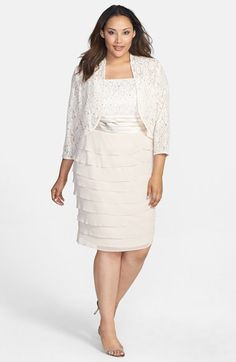 Jessica Howard Womens Two Piece Jacket Dress with Sequin Detail ...