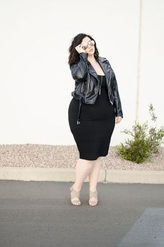 plus size black bodycon city chic ootd sometimes glam crystal coons phoenix az blogger