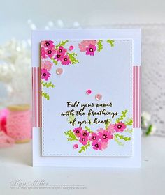 I'm super excited about Papertrey Ink's Stamp-a-faire! This card was created with the new Free with purchase stamp set! Details on my blog! http://myjoyfulmoments-kaym.blogspot.com/2016/07/saf-free-exclusive-set.html?m=1. #papertreyink #stamping #cardmaking #myjoyfulmoments
