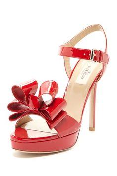 Valentino Bow Patent Sandal