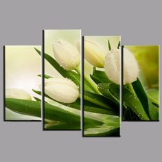 mural tulipanes - Buscar con Google