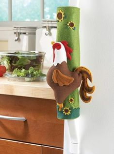 Rooster Oven and Refrigerator Handle Covers