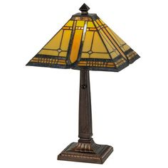 Meyda Tiffany 147482 21 h Sierra Prairie Mission Table Lamp Ceiling Fixtures, Ceiling Lights, Ceiling Fans, Mission Table, Art Nouveau, Simple Geometric Designs, Stained Glass Lamps, Steel Sculpture, Tiffany Lamps