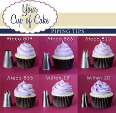 How to Pipe Frosting on a Cupcake!  Lizzy from Your Cup Of Cake is fabulous!