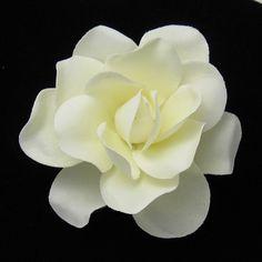 Ivory Open Gardenia Hair Flower