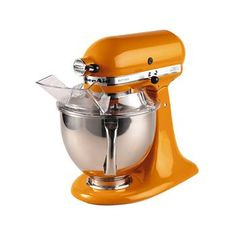 KitchenAid 5-qt. Tangerine Stand Mixer as seen on The Chew. #thechew.....I want one that is Black!!!!