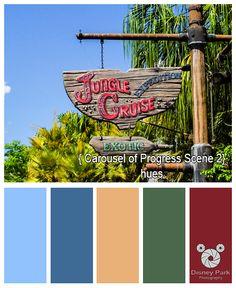 Disney Park Photography - Photo: Jungle Cruise Sign - Color Palette