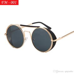 6150d67bdd5 Vintage Steampunk Sunglasses Men Round Designer Steam Punk Metal Women  Coating Sunglasses Retro Circle Sun Glasses Serengeti Sunglasses Ray Bans  Sunglasses ...
