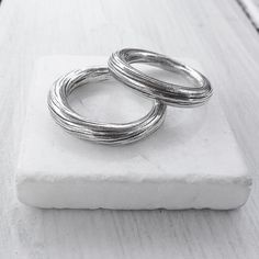 Thick Rounded Band Ring Solid Sterling Silver by SunSanJewelry
