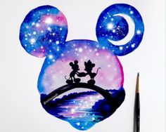 Everyone loves Disney, right ? Double exposure of . - Everyone loves Disney, right ? Double exposure of … – - Disney Art, Disney Kunst, Disney Crafts, Wallpaper Do Mickey Mouse, Disney Wallpaper, Cute Disney Drawings, Cute Drawings, Drawing Disney, Dory Drawing