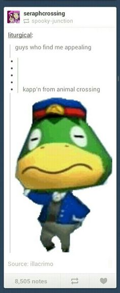 THIS WOULD BE FUNNIER IF IT WASN'T SO TRUE. I mean come on, Kapp'n, YOU HAVE A WIFE.