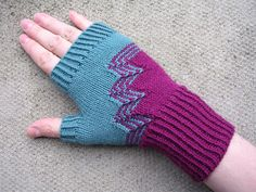Deco Gloves and Fingerless Mitts PDF knitting pattern image 1 Small Knitting Projects, Knitting Designs, Knitting Patterns Free, Fingerless Gloves Knitted, Elegant Gloves, Wrist Warmers, Loom Knitting, Knit Crochet, Flats