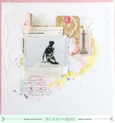#scrapbooking page for #TwoPeasInABucket - In The Mood To Scrap video series - by Janna Werner