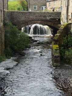 bridge, Hawes, the Yorkshire Dales, England