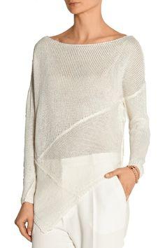 Donna Karan New YorkOpen-knit linen sweaterfront