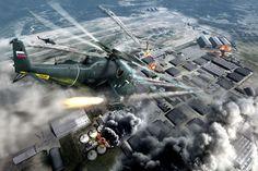 Многоцелевой ударный военно-транспортный вертолёт 24В (Ми-35М)