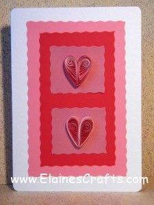 Quilled Hearts Greeting Card for Valentine's Day
