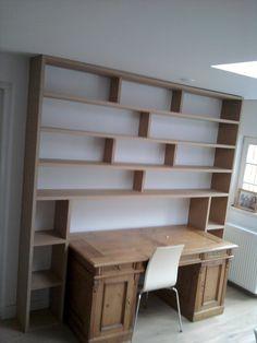 """Boekenkast ombouw voor bureau van mdf """"Sassenheim"""""""