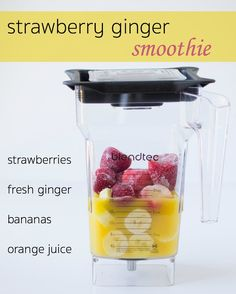 Quench your thirst with this refreshing Strawberry Citrus and Ginger Smoothie a fast and fruity treat perfect for crushing your sweet cravings Click the image for more info. Ginger Smoothie, Strawberry Smoothie, Juice Smoothie, Smoothie Drinks, Smoothie King, Smoothie Cleanse, Detox Drinks, Paleo Smoothie Recipes, Veggie Smoothies