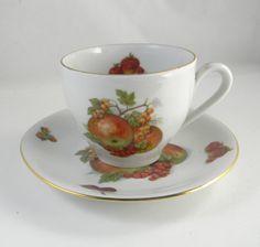 Vintage Tea cup and saucer Debra fine bone china by FeliceSereno, $15.00