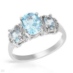 Ring With 1.90ctw Precious Stones