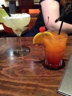 Cocktails at Hard Rick Cafe.. Margarita & Hurricane