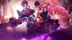 Gusion Dangerous Laison and Lesley Dangerous Love Valentine's Day Special Skin Full Wallpaper Mobile Legend Wallpaper, Hero Wallpaper, Couple Wallpaper, Screen Wallpaper, Iphone Wallpaper, Valentine Day Special, Love Valentines, Miya Mobile Legends, Moba Legends