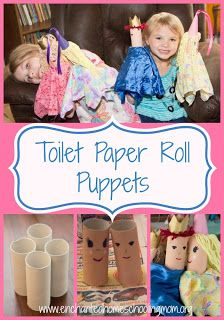 Toilet Paper Roll Puppets - Enchanted Homeschooling Mom