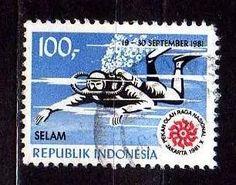indonésia 1981 * esportes radicais * mergulho livre