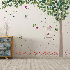 Rosalina Spring Garden Wall Sticker East Urban Home Nursery Wall Stickers, Vinyl Wall Decals, Decals For Walls, Garden Mural, Wall Painting Decor, Flower Wall Decals, 3d Butterfly Wall Stickers, Walled Garden, Spring Garden