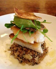 We have a new dinner menu to complement the pleasant Autumn weather from our talented new Head Chef Jaime Morgan. Here's the crispy skin market fish with a cauliflower couscous and pickled oyster mushrooms... Olive Restaurant, Wellington. http://www.oliverestaurant.co.nz/