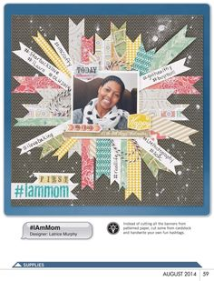 #papercrafting #scrapbook #layout - Paper Crafts & Scrapbooking - August 2014 - Page 59