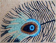 #Peacock tile mosaic mural