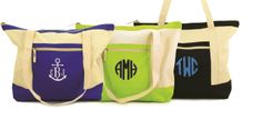 #monogram   #beach_tote  #anchor  #nautical Your choice of color block: royal blue, lime green or black.  Select the type of embroidery thread color and the style of monogram you would like to use from the examples ...