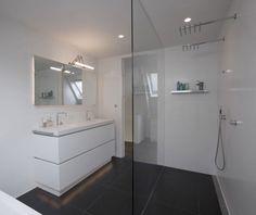 Baño minimalista en blanco   Decoratrix   Decoración, diseño e interiorismo
