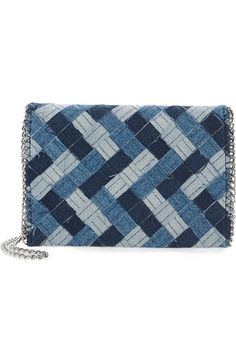 Chelsea28 Woven Denim Clutch available at #Nordstrom