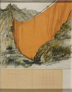 Artwork page for 'Valley Curtain (Project for Colorado) Rifle, Grand Hogback', Christo (Christo Javacheff), 1971