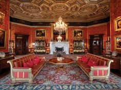 Experience the beautiful Renaissance-style State Rooms, open now at Alnwick Castle. Learn more and book your visit to the castle today! Palace Interior, Mansion Interior, Inside Windsor Castle, Castle Drawing, Drawing Room, Alnwick Castle, Ashford Castle, State Room, English Castles