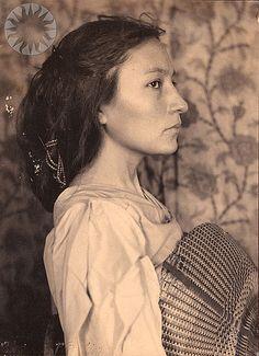"""Zitkala-Sa"". Gertrude Simmons Bonnin, (Zitkala-Sa) was a writer, editor, musician, teacher and political activist. She was born in South Dakota, raised on the Yankton Sioux Reservation. Photo: Gertrude Käsebier, 1901."
