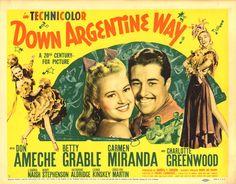 Down Argentine Way es una película estadounidense de 1940, producida por Darryl F. Zanuck y dirigida por Irving Cummings.     Escrita por ...
