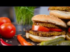 Saftiger Grünkern Burger I vegan - YouTube