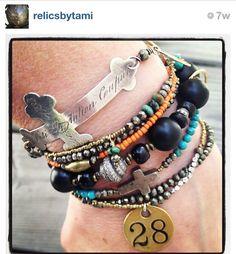 Bracelet stacking www.relicsbytami.com