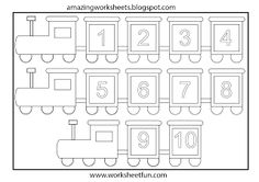 Number train coloring