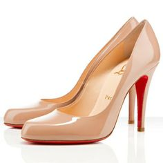 Christian Louboutin Decollete 868 100mm Patent Leather Pumps Nude Red Bottom Shoes. Only $129.00