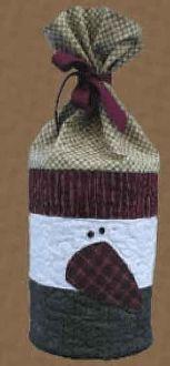 Snowman Gift Bag Pattern by The Wooden Bear at KayeWood.com