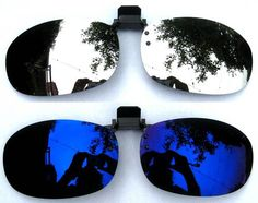 Outdoor Polarized Clip-on Glasses Magnet Flip-up Lenses Sunglasses USA Mirror Clips, Flip Up Sunglasses, Blue Mirrors, Eyewear, Cgi, Trending Outfits, Silver, Ebay, Cycling