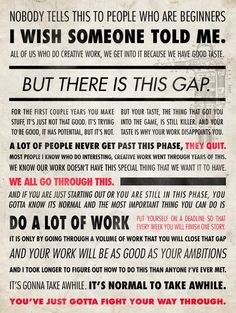Ira Glass on doing creative work - good work takes time