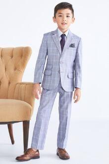 """""""Shop Chasing Fireflies for our Boys Windowpane Plaid Suit. Beige Suits, Black Suits, Kurta Pajama Men, Boys Wedding Suits, Light Blue Suit, Boys First Communion, Mod Suits, Gown Suit, Plaid Suit"""